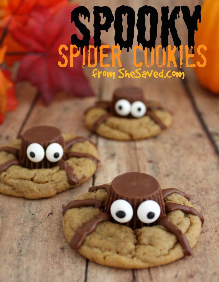 Halloween Cookies Recipes  Halloween Treat Spooky Spider Cookies SheSaved