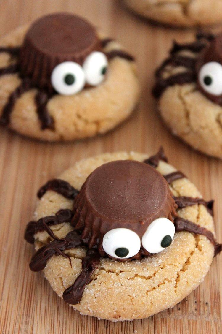 Halloween Cookies Recipes Easy  Halloween Peanut Butter Spider Cookies Recipe