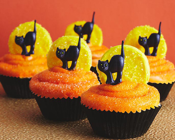 Halloween Cup Cakes  Black Cat Cupcakes