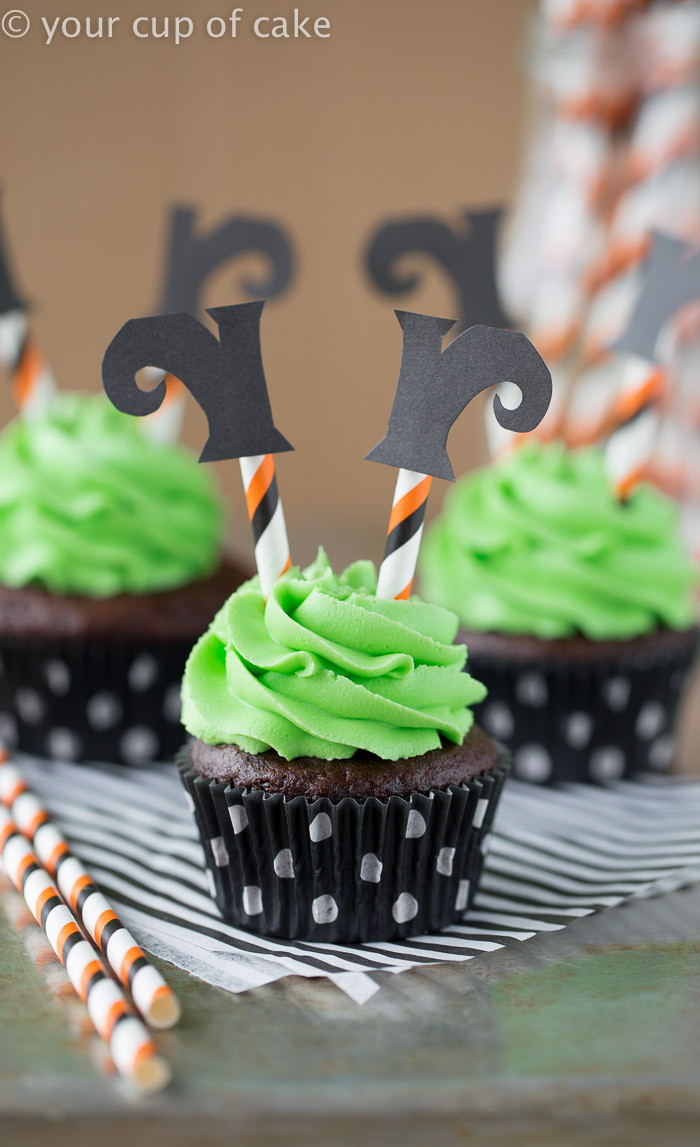 Halloween Cupcakes Cake  Wicked Witch Cupcakes Your Cup of Cake