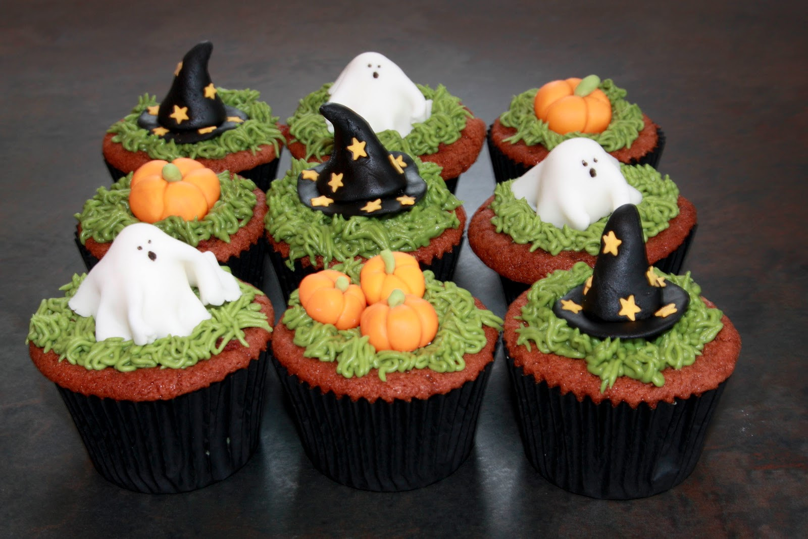Halloween Cupcakes Cake  The Cake Trail Halloween Red Velvet cupcakes