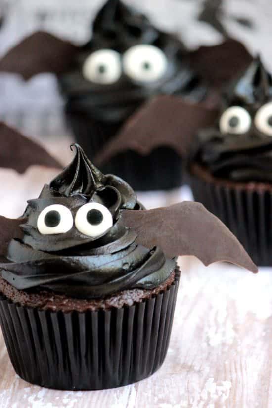 Halloween Cupcakes Ideas  Easy Bat Cupcakes A Cedar Spoon