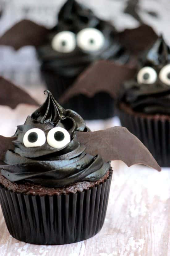 Halloween Cupcakes Pinterest  Easy Bat Cupcakes A Cedar Spoon