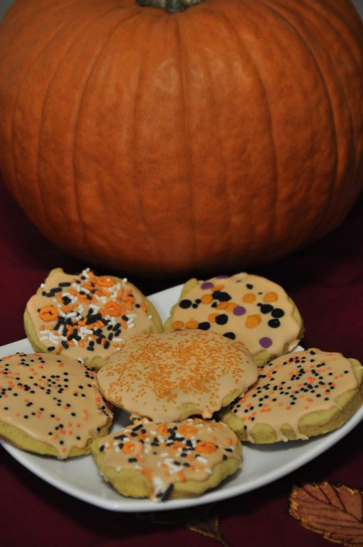 Halloween Cut Out Cookies  Double Pumpkin Cut Out Cookies