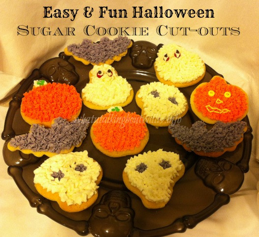 Halloween Cut Out Cookies  Easy & Fun Halloween Sugar Cookie Cut outs