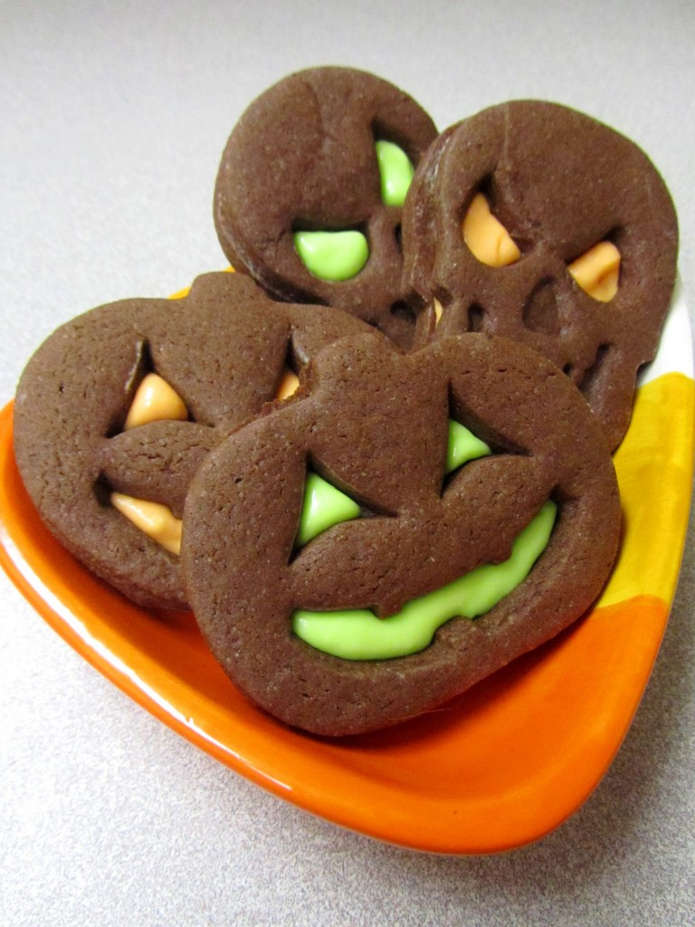 Halloween Cut Out Cookies  Halloween Brownie Roll Out Cookie Sandwiches