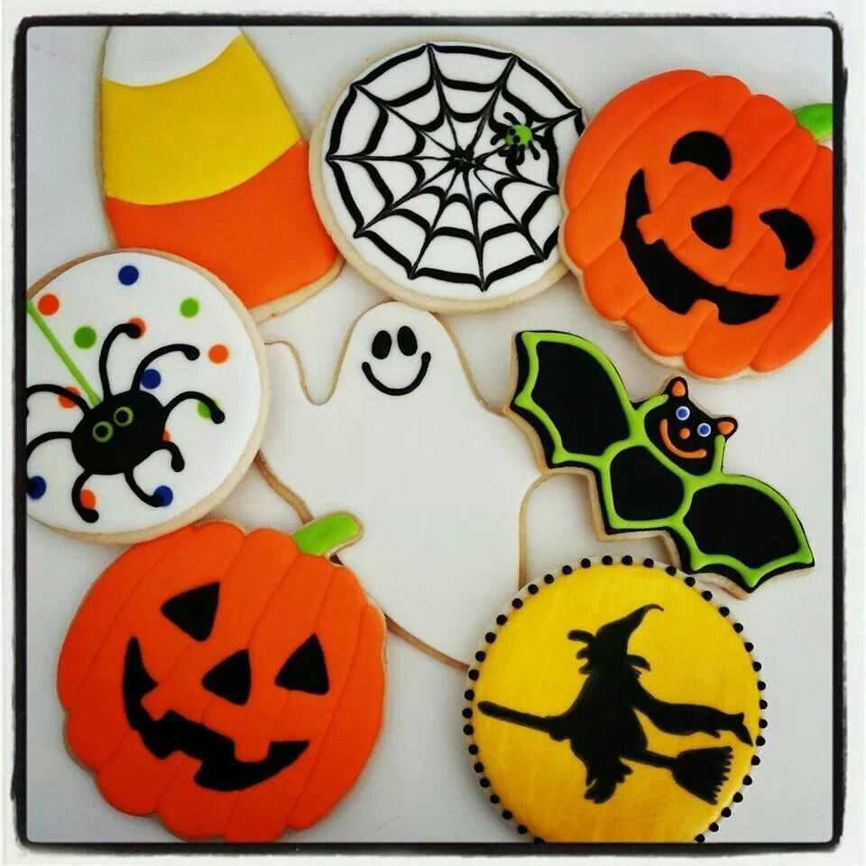 Halloween Decorated Sugar Cookies  Halloween Cookies decorated sugar cookies
