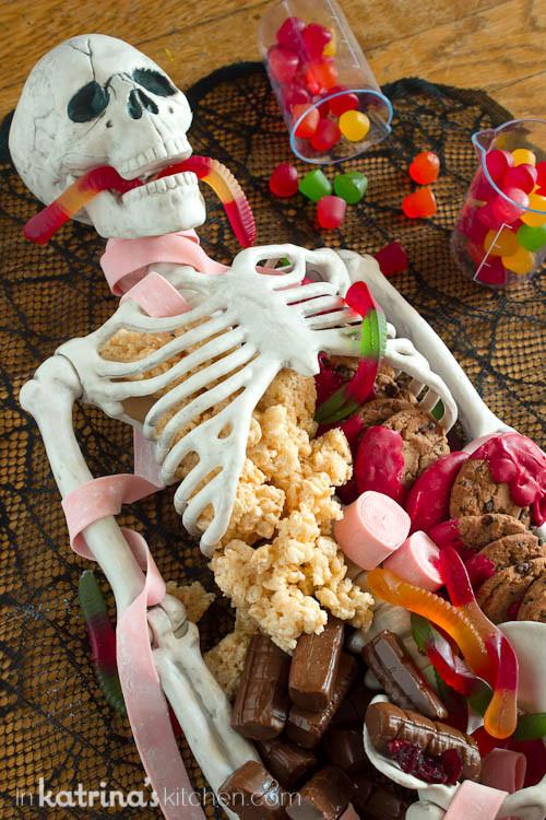 Halloween Dessert Table  Halloween Dessert Table Skeleton