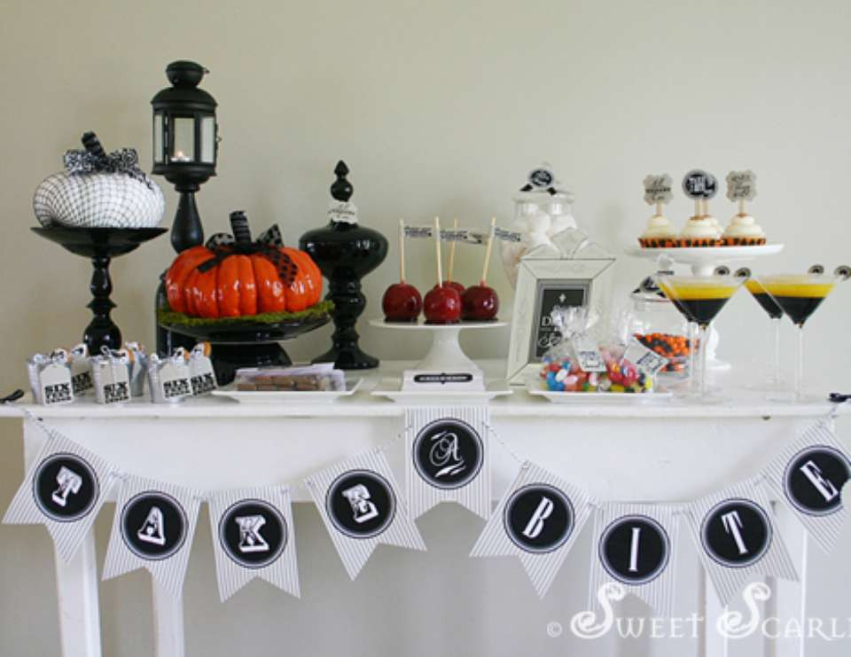 Halloween Dessert Table  halloween tablescape adult halloween party Halloween