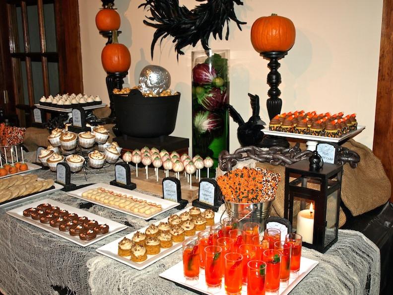 Halloween Dessert Table  a party style halloween dessert table