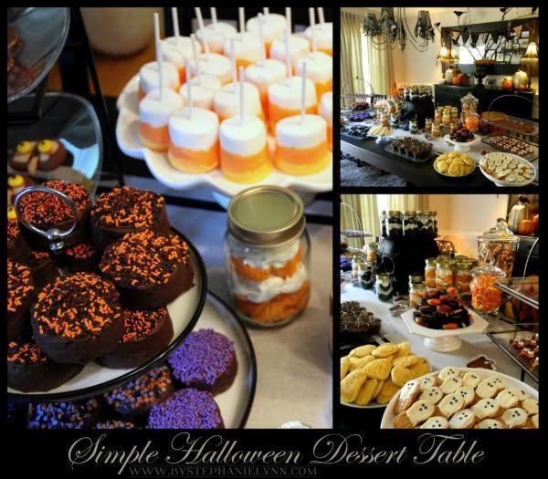 Halloween Dessert Table  Super Easy Treats for My Simple Halloween Dessert Table