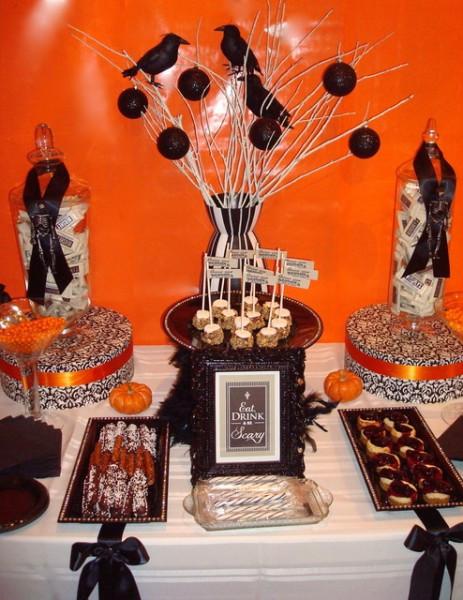 Halloween Dessert Table  Beautiful Grown Up Halloween Dessert Tables on Catch My