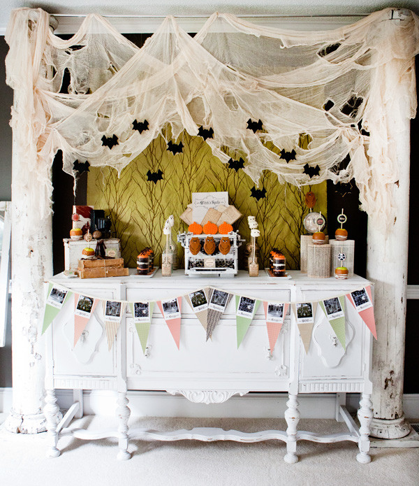 Halloween Dessert Table  Life of a Vintage Lover Trick or Treat A Vintage