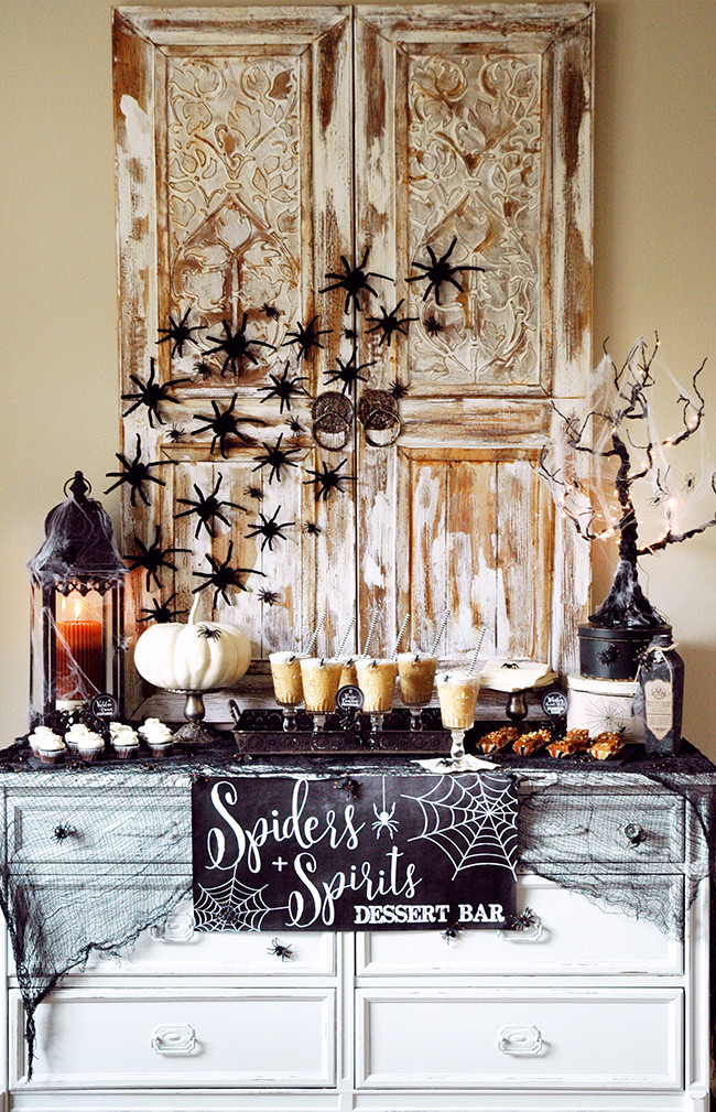 Halloween Dessert Table  Halloween Tablescape and Party Ideas House of Hargrove