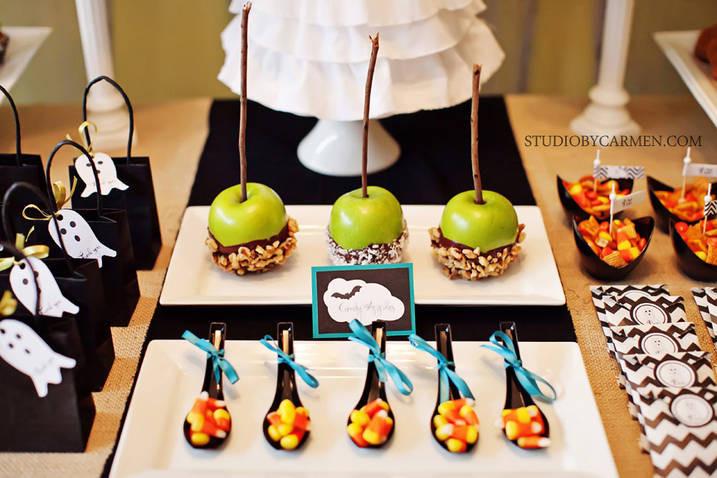 Halloween Dessert Table  Kara s Party Ideas Elegant Halloween Party Dessert Table