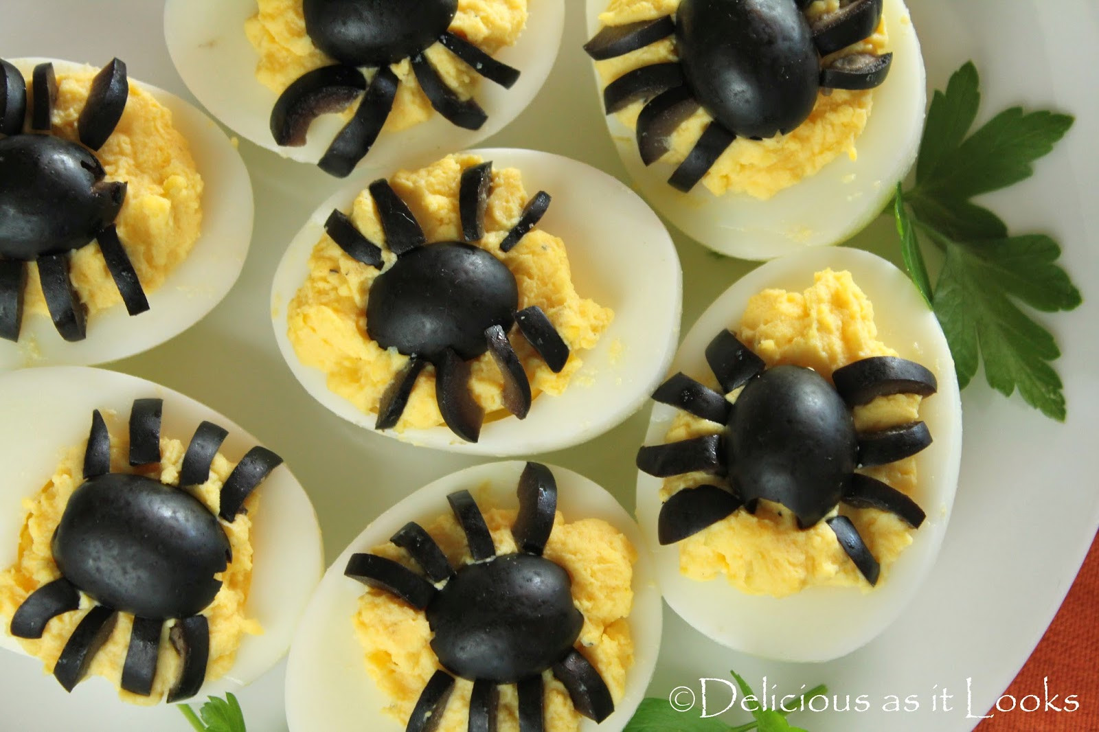 Halloween Deviled Eggs Spider  Halloween Spooky Spider Deviled Eggs Delicious as it Looks