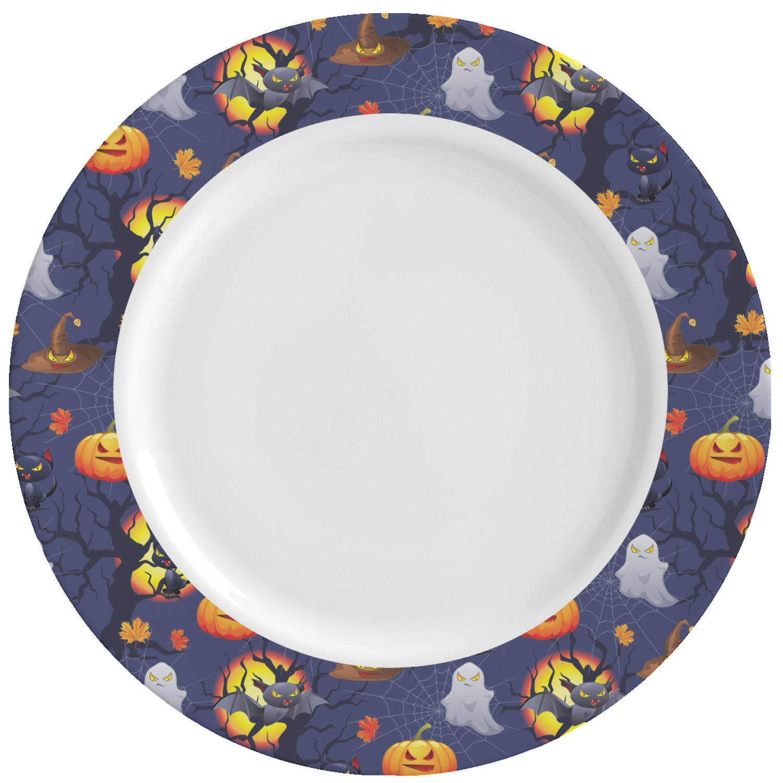 Halloween Dinner Plates  Halloween Night Ceramic Dinner Plates Set of 4