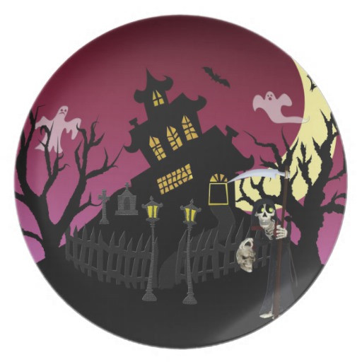 Halloween Dinner Plates  Scary Halloween Dinner Plates