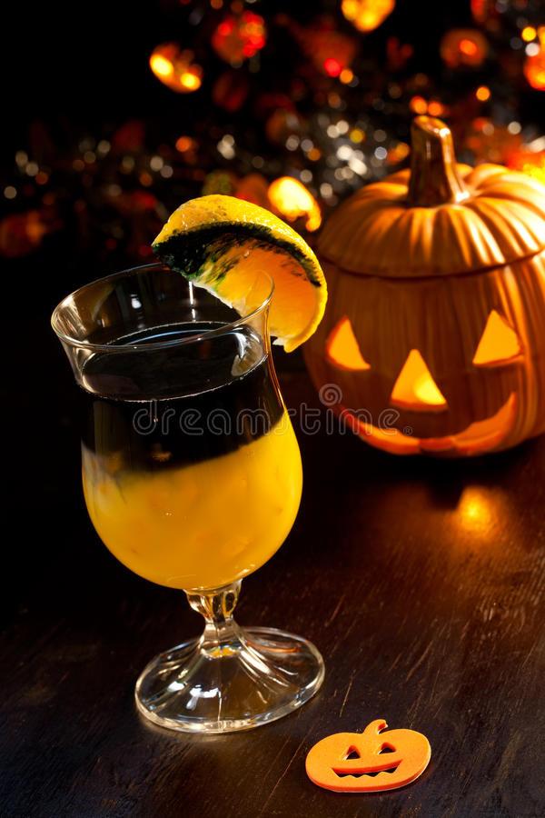 Halloween Drinks With Vodka  Halloween Drinks Rotten Pumpkin Cocktail Stock