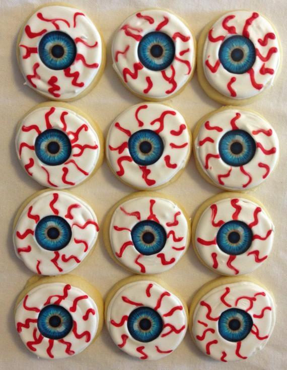 Halloween Eyeball Cookies  Eyeball Sugar Cookies