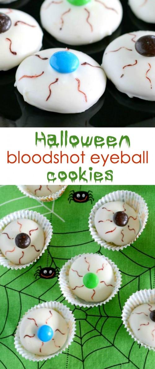 Halloween Eyeball Cookies  Over 60 Spooktacular Halloween Ideas Eighteen25