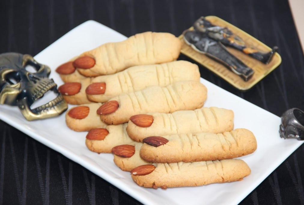 Halloween Finger Cookies  Spooky Witch Finger Cookies Halloween Cookies Butter