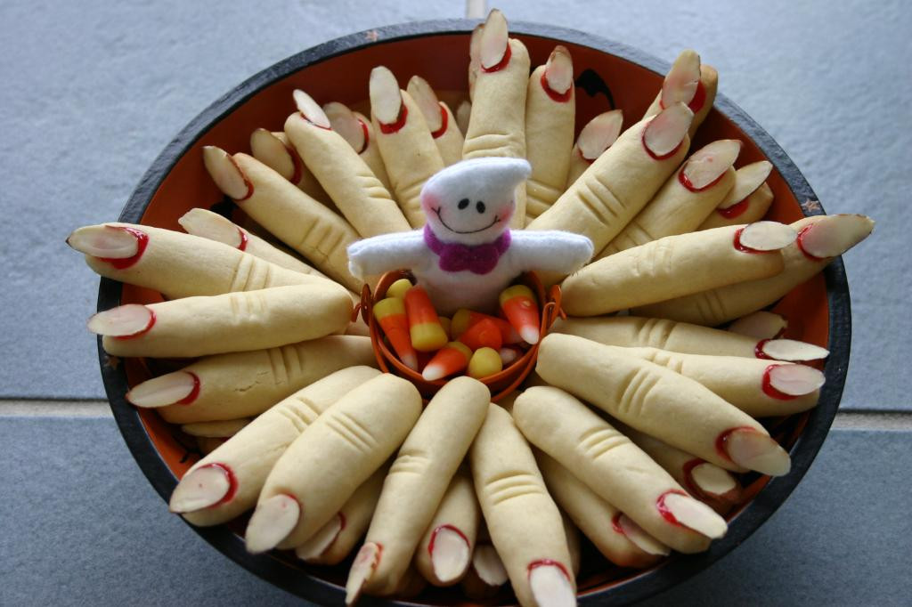 Halloween Finger Cookies  Halloween Recipes