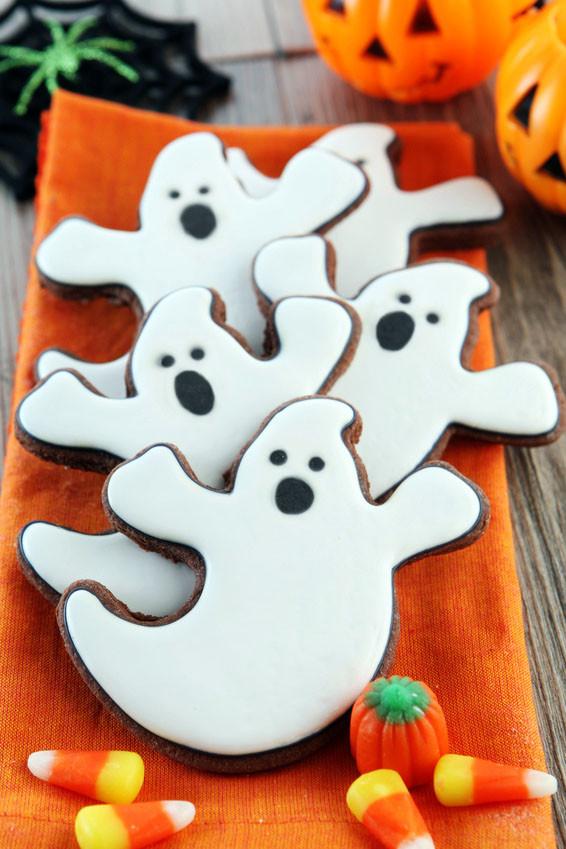 Halloween Ghost Cookies  Halloween Ghost Cookies Recipe