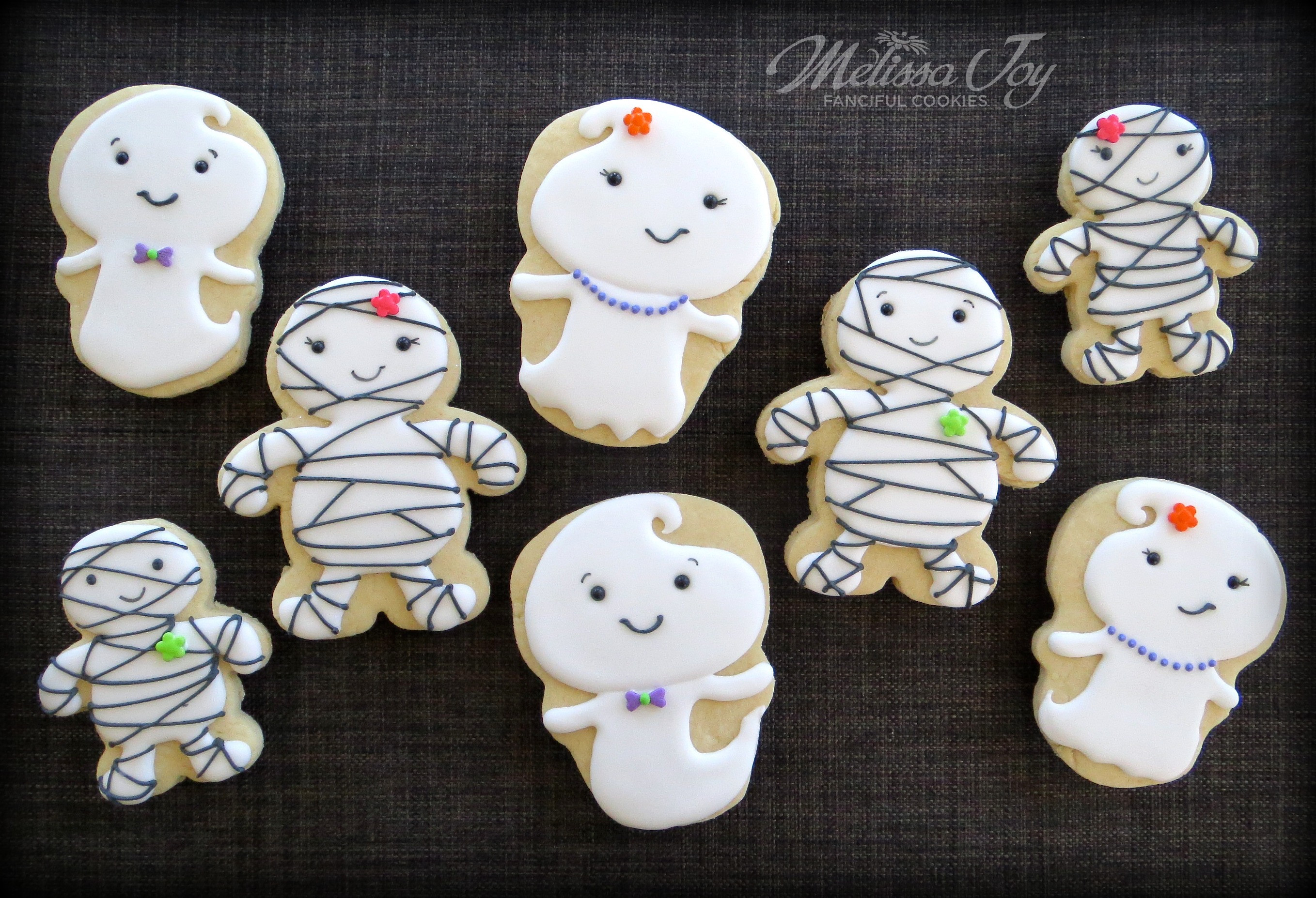Halloween Ghost Cookies  Easy Ghost and Mummy Cookies for Halloween