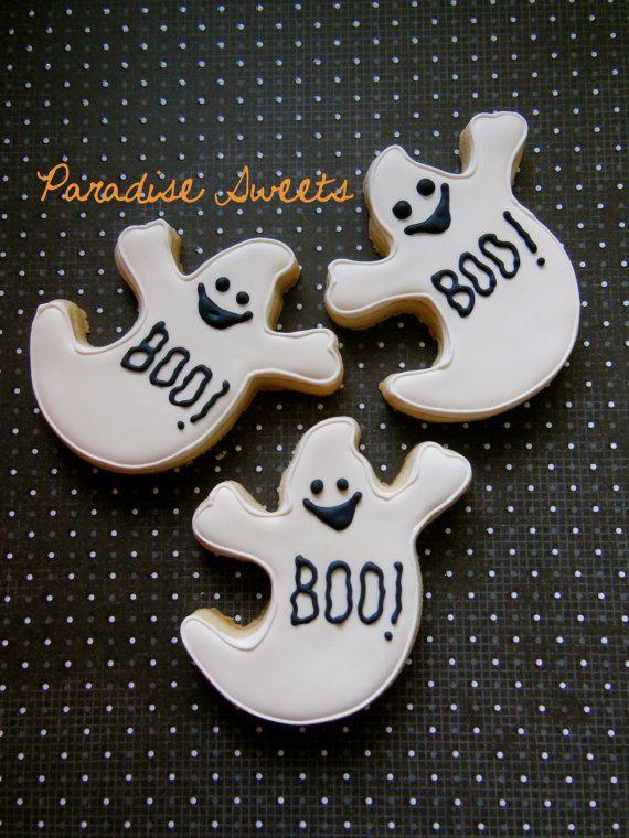 Halloween Ghost Cookies  Halloween Ghost Sugar Cookies 1 Dozen