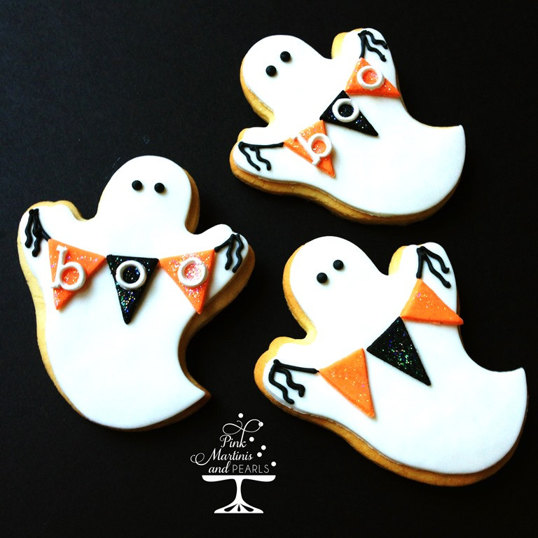 Halloween Ghost Cookies  Decorated Ghost Cookies With Fondant