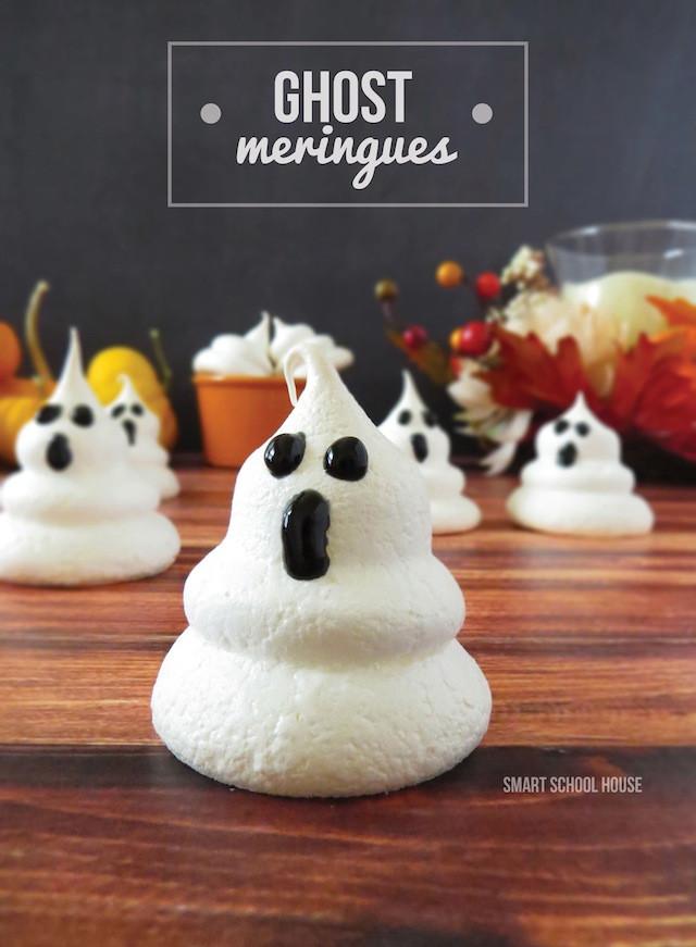 Halloween Ghost Cookies  Ghost Meringues