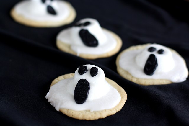 Halloween Ghost Cookies  Halloween 3 D Ghost Cookies
