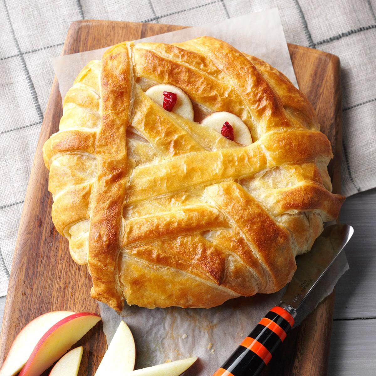 Halloween Main Dishes Recipes  Mummy Wrapped Brie Recipe