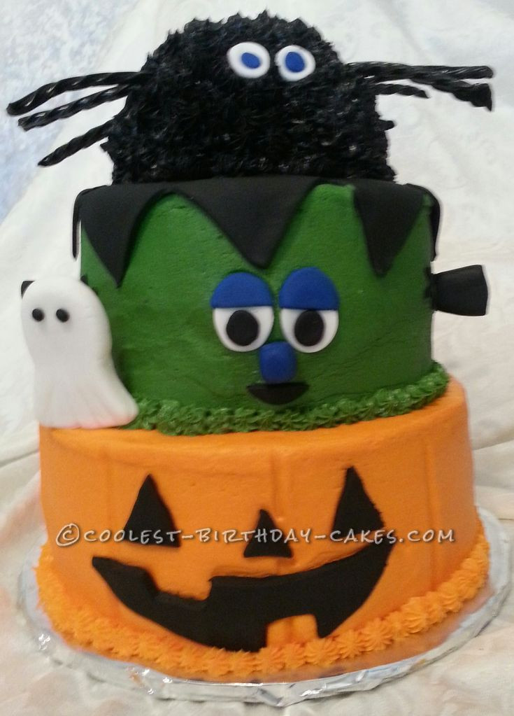 Halloween Party Cakes  Coolest 3 Tier Halloween Party Cake