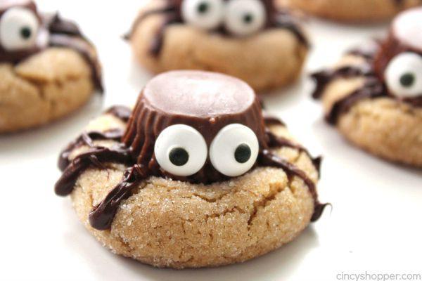 Halloween Peanut Butter Cookies  Halloween Spider Cookies CincyShopper