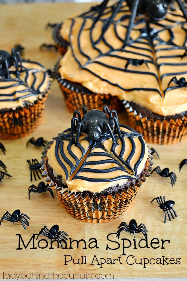 Halloween Pull Apart Cupcakes  Momma Spider Halloween Pull Apart Cupcakes