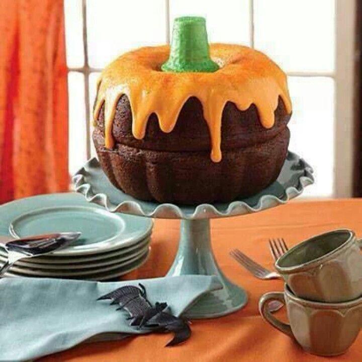 Halloween Pumpkin Cake  Mini Bundt Cake Pumpkins