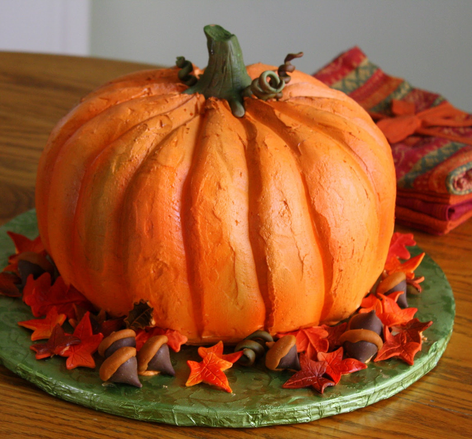 Halloween Pumpkin Cake  Jane s Sweets & Baking Journal The Cake that Thinks it s