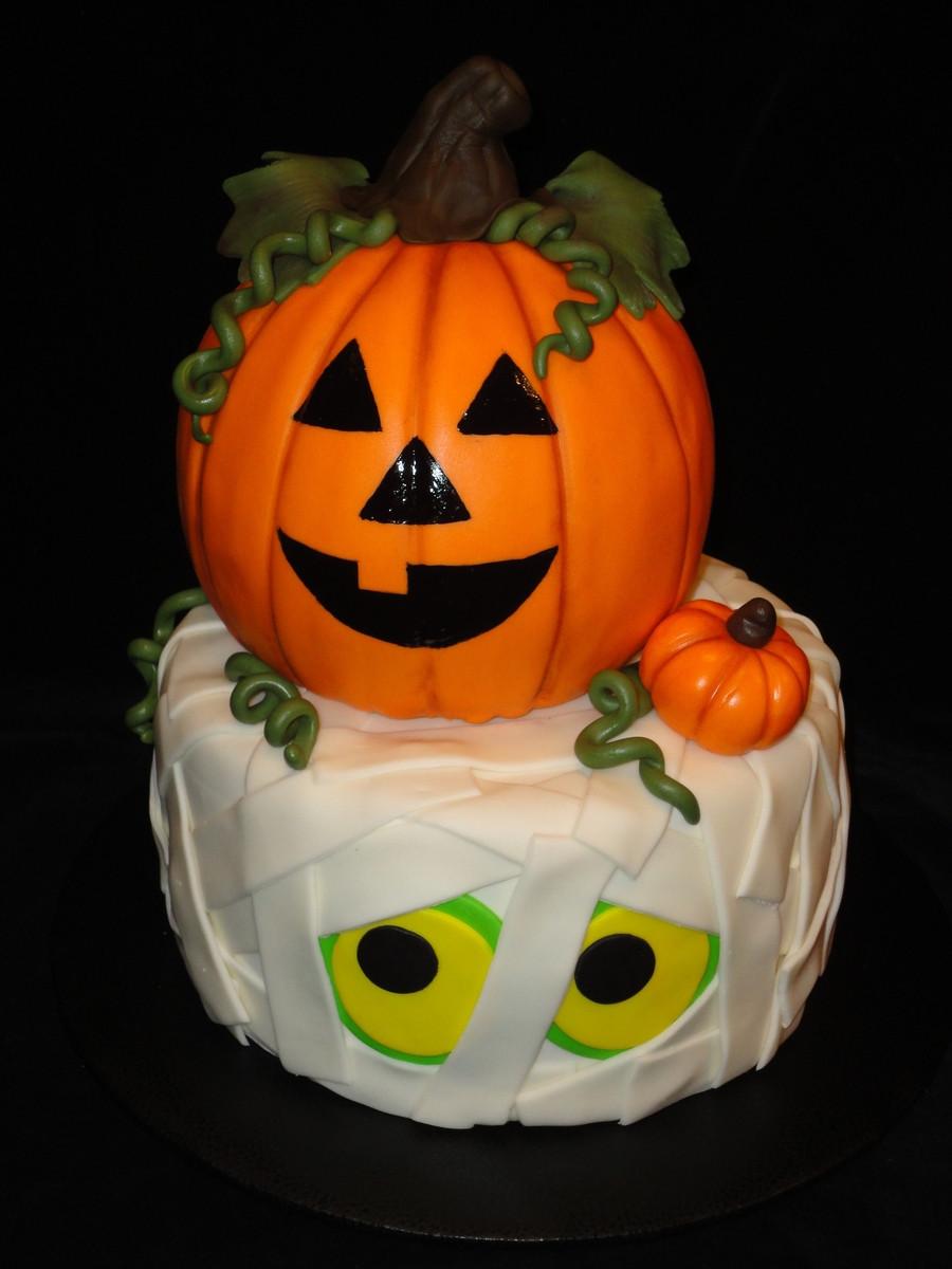 Halloween Pumpkin Cake  Halloween Cake CakeCentral