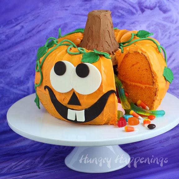 Halloween Pumpkin Cake  Halloween Dessert Pumpkin Pinata Cake Hungry Happenings
