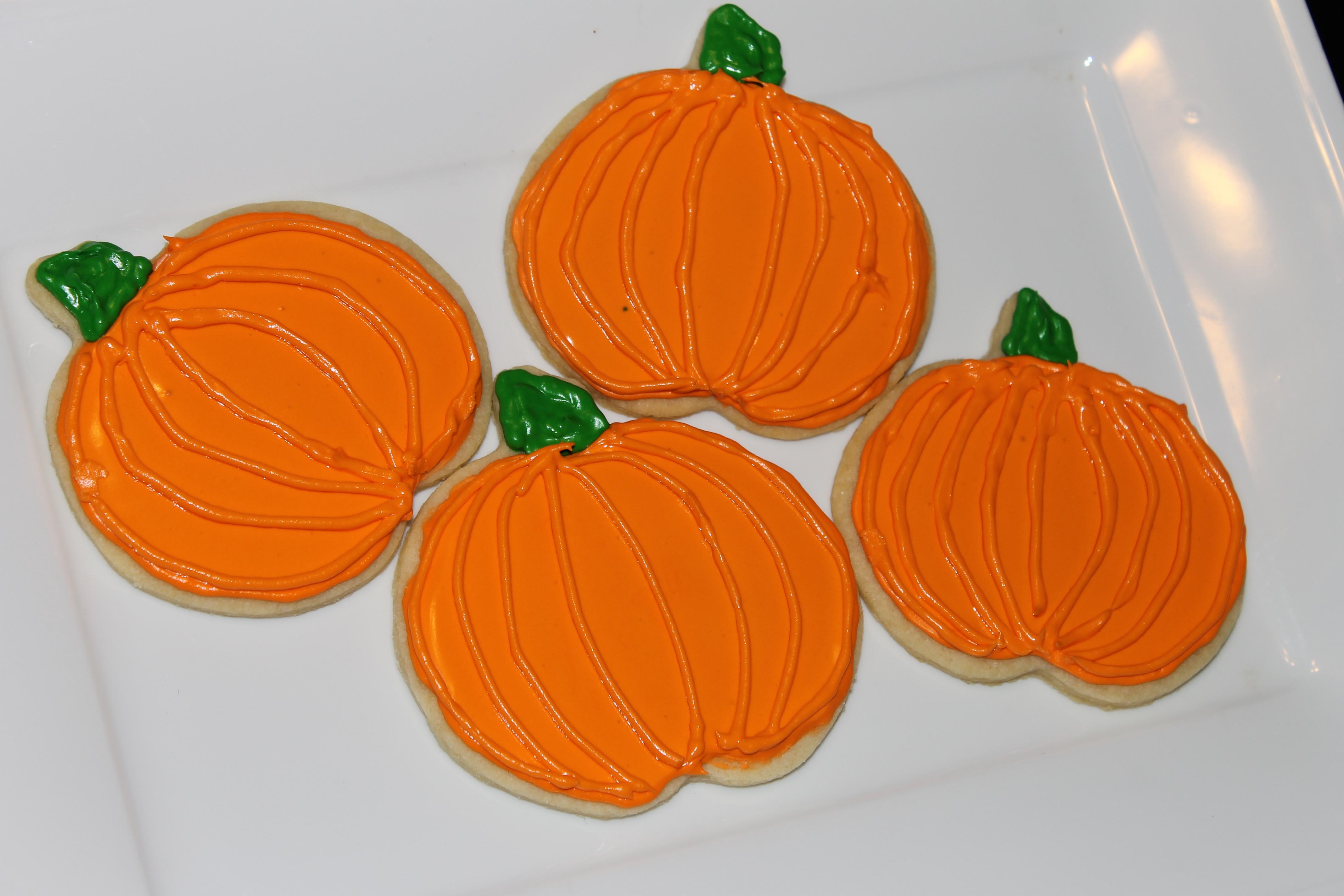 Halloween Pumpkin Cookies  Pumpkin Sugar Cookies…Happy Halloween