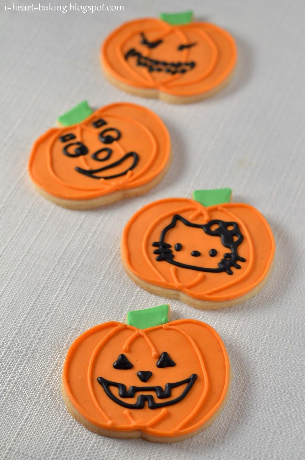 Halloween Pumpkin Cookies  i heart baking halloween cookies jack o lantern