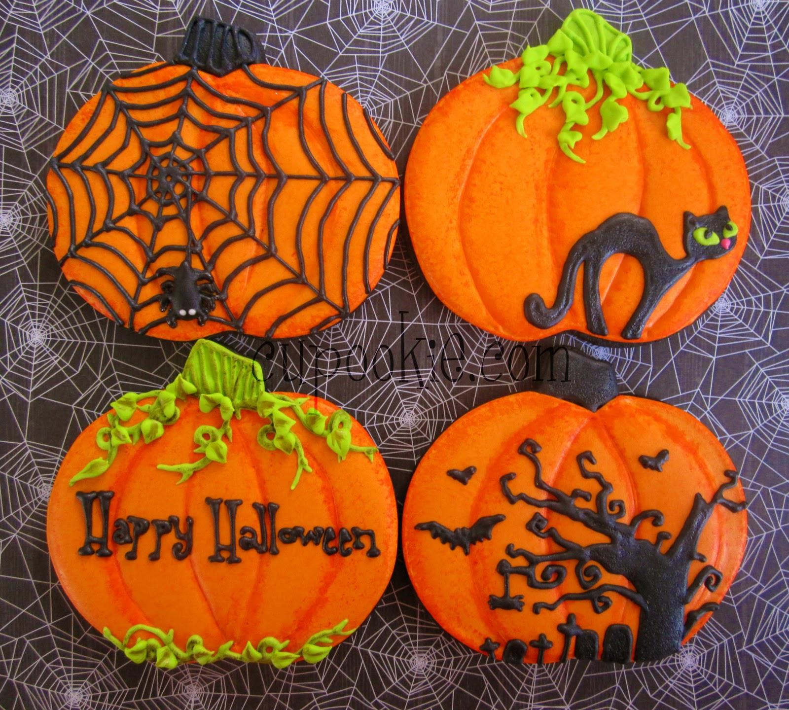 Halloween Pumpkin Cookies  Cupookie Halloween Cookies