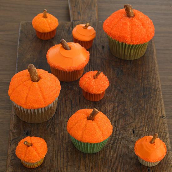 Halloween Pumpkin Cupcakes  50 Halloween Treats