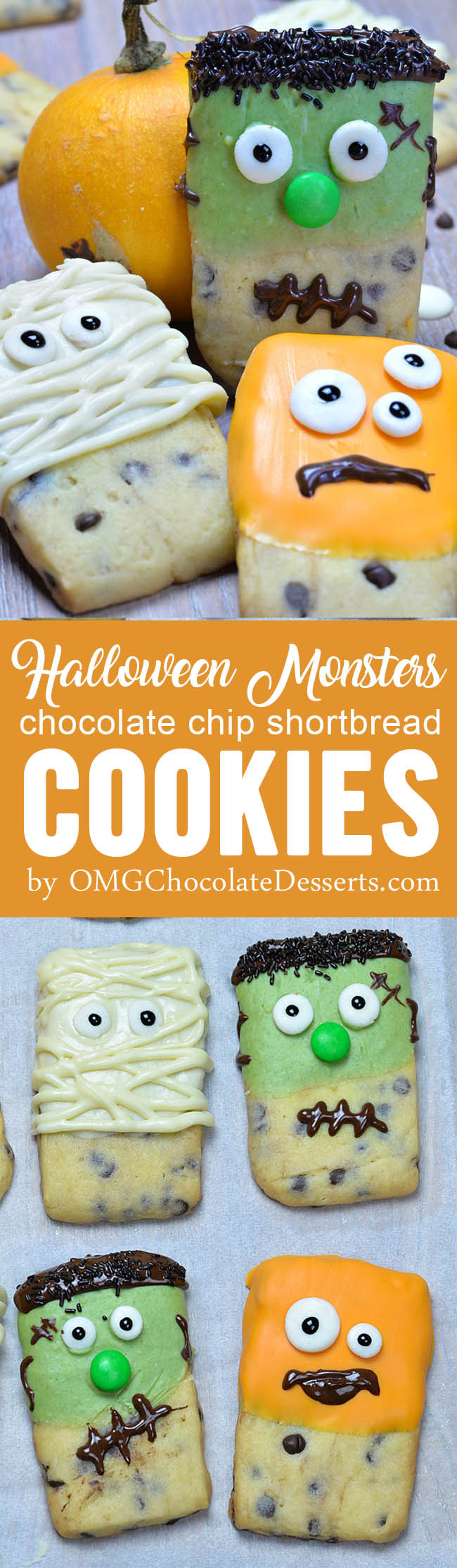 Halloween Shortbread Cookies  Halloween Monsters Shortbread Cookies OMG Chocolate Desserts