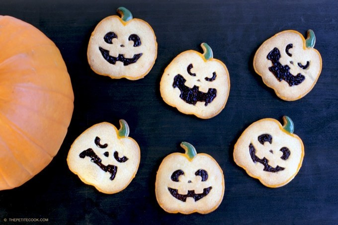 Halloween Shortbread Cookies  Halloween Shortbread Cookies The Petite Cook