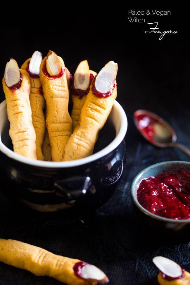 Halloween Sugar Cookies Fingers  Paleo Witch Finger Cookies Vegan