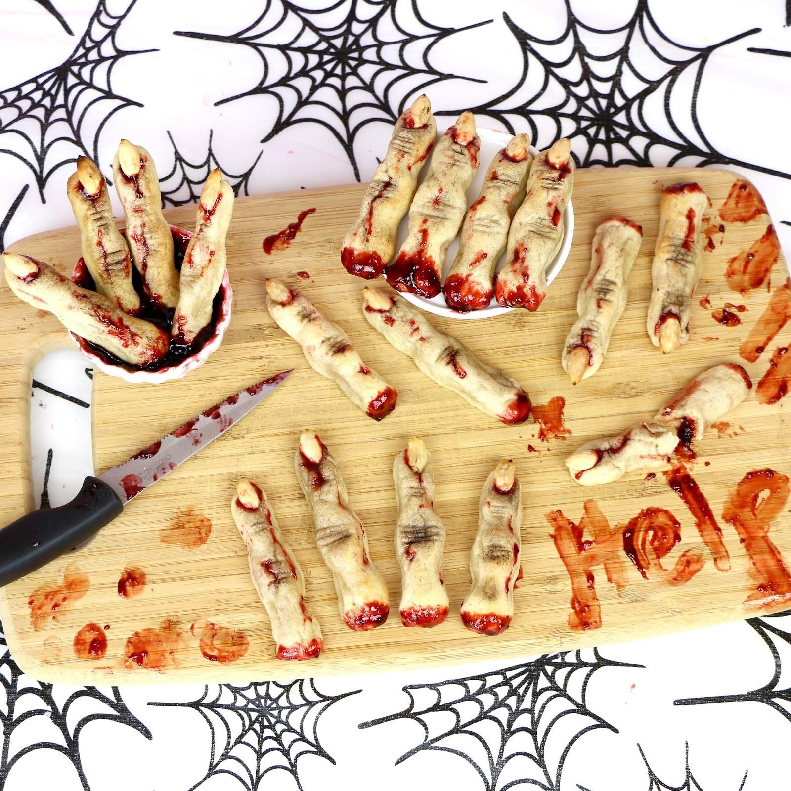 Halloween Sugar Cookies Fingers  VIDEO Halloween Severed Finger Sugar Cookies The
