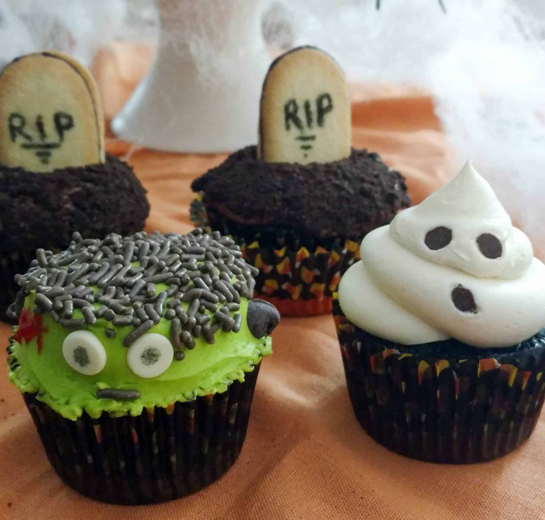 Halloween Themed Cupcakes  3 Easy To Make Halloween Themed Cupcakes Boston Girl Bakes
